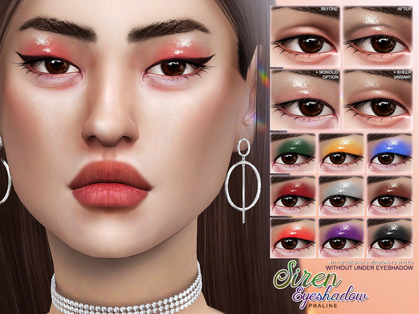 Sims 4 Siren Eyeshadow N71 by Pralinesims at TSR