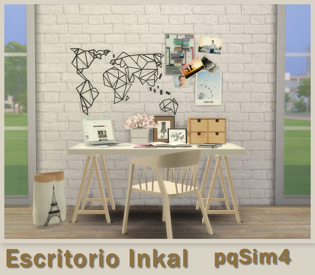 Inkal office set at pqSims4 image 13710 Sims 4 Updates