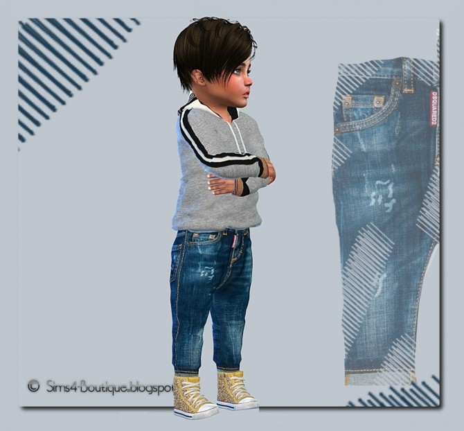 Designer Set Shirt & Jeans for little Boys at Sims4 Boutique image 13711 670x622 Sims 4 Updates