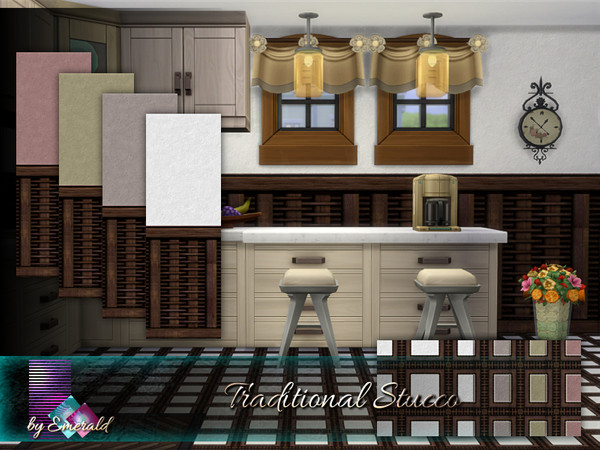 Traditional Stucco by emerald at TSR image 1379 Sims 4 Updates