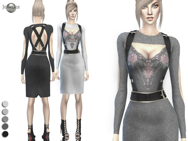 Eliswen dress by jomsims at TSR image 138 Sims 4 Updates