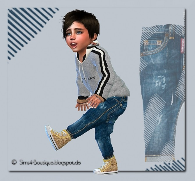 Designer Set Shirt & Jeans for little Boys at Sims4 Boutique image 13810 670x622 Sims 4 Updates
