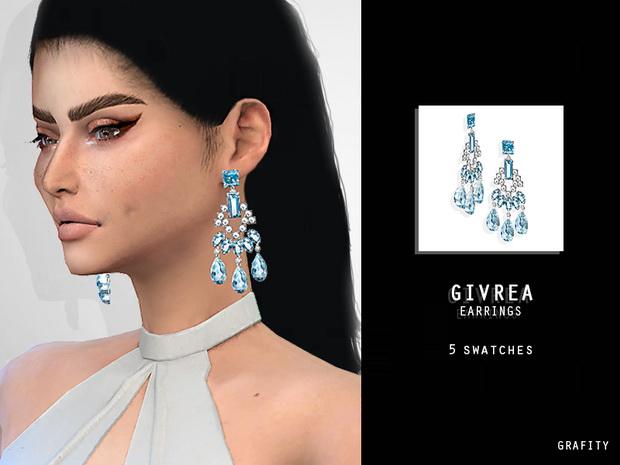 GIVREA EARRINGS at Grafity cc image 1382 Sims 4 Updates