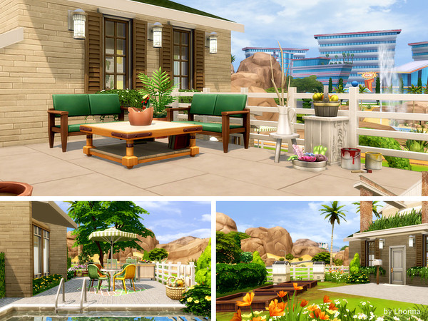 Calm Green house by Lhonna at TSR image 1418 Sims 4 Updates