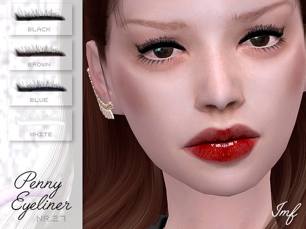 IMF Penny Eyeliner with upper lashes N.27 by IzzieMcFire at TSR image 1420 Sims 4 Updates