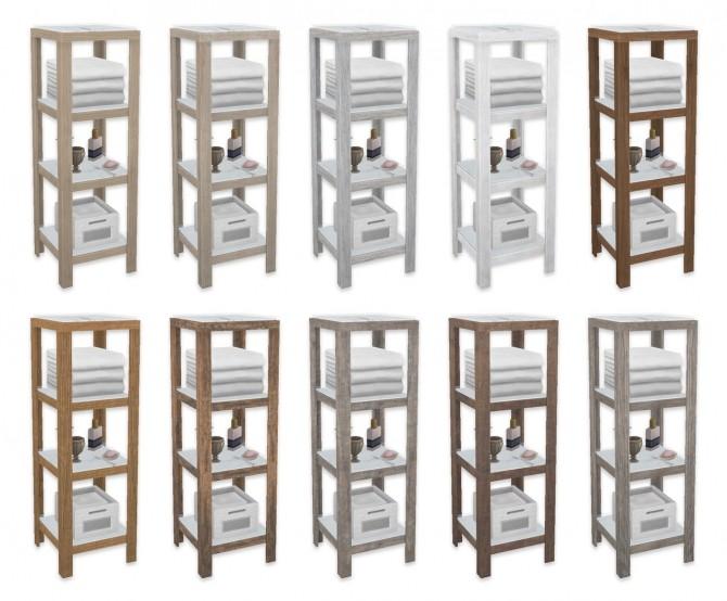 Sims 4 Bathroom Shelves at SimPlistic