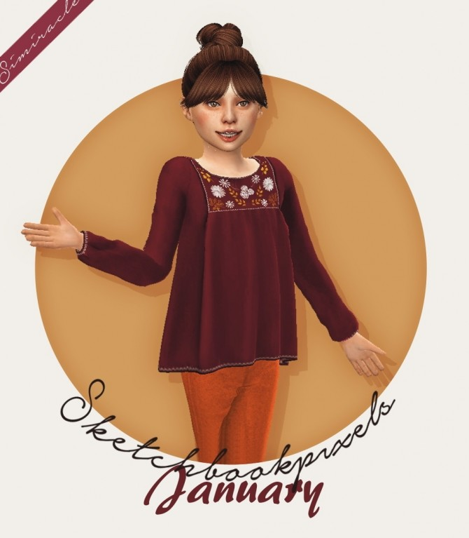 Sketchbookpixels January 3T4 top for kids at Simiracle image 1444 670x767 Sims 4 Updates