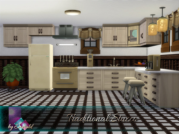 Traditional Stucco by emerald at TSR image 1460 Sims 4 Updates
