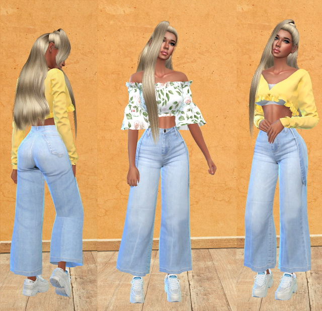 Suspender Jeans Recolor at Teenageeaglerunner image 1463 Sims 4 Updates