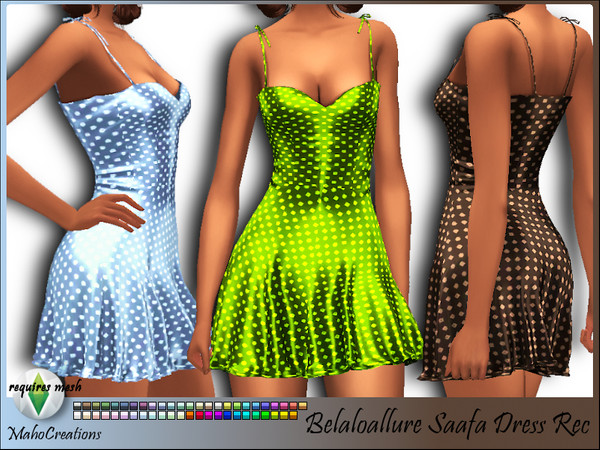 Sims 4 Saafa Dress Recolor by MahoCreations at TSR