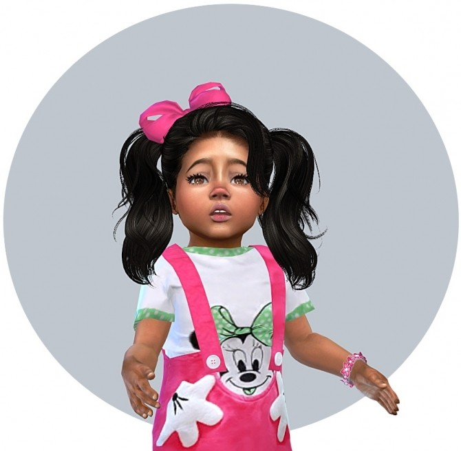 Sims 4 Dress and Light Shoes for little Toddler Girls at Sims4 Boutique