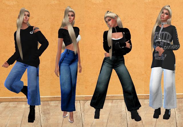 Suspender Jeans Recolor at Teenageeaglerunner image 1473 Sims 4 Updates
