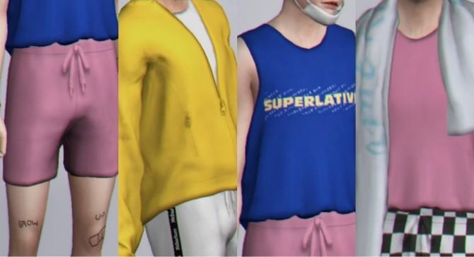 Beach towels, shorts, hoodies & tanks at Casteru image 1485 670x364 Sims 4 Updates