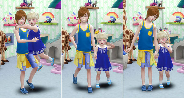 Brothers & Sisters poses at A luckyday image 1501 Sims 4 Updates