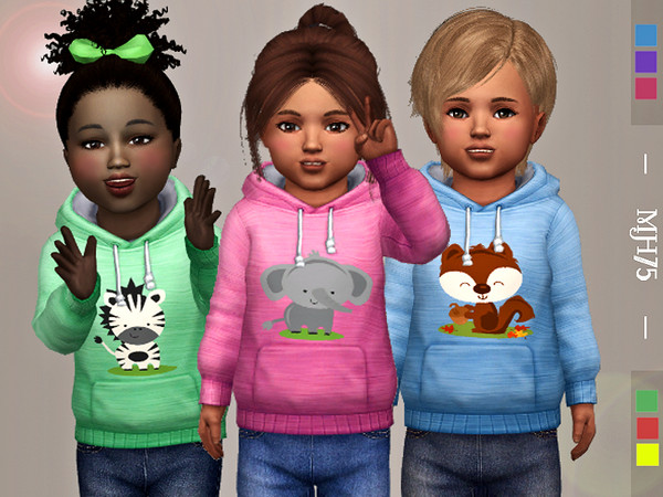 Sims 4 Lil Creatures Hoodie by Margeh 75 at TSR