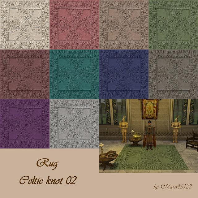 Sims 4 Rug Celtic knot 02 at Mara45123