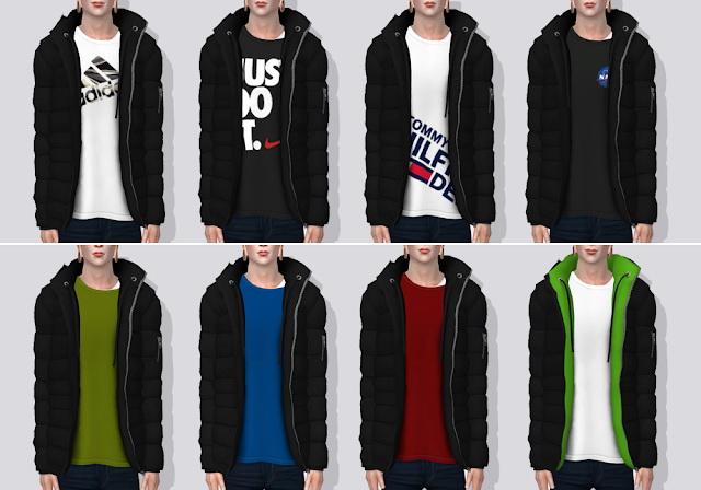 Sims 4 Parka with Layered T Shirts V1 at Darte77