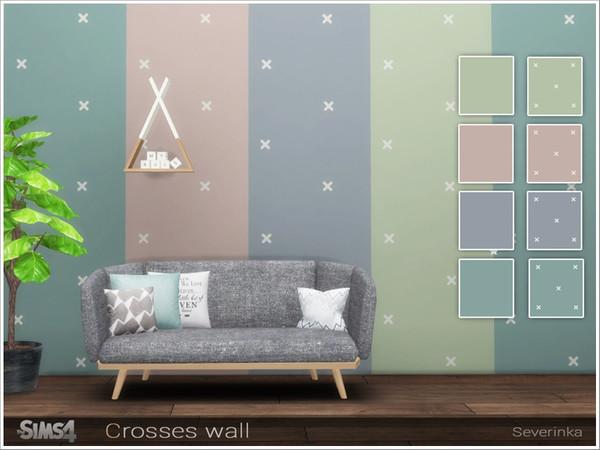 Sims 4 Crosses wall by Severinka at TSR