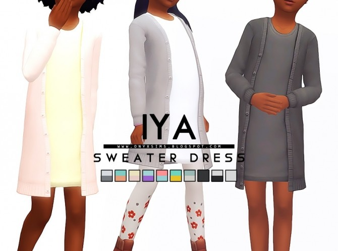 Iya Sweater Dress at Onyx Sims image 1558 670x497 Sims 4 Updates