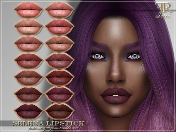 FRS Selena Lipstick by FashionRoyaltySims at TSR image 1560 Sims 4 Updates