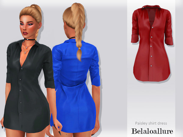 Sims 4 Belalloallure Paisley dress by belal1997 at TSR