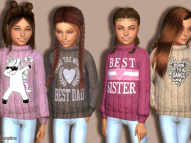 Sims 4 Winter Sweater 02 at MSQ Sims