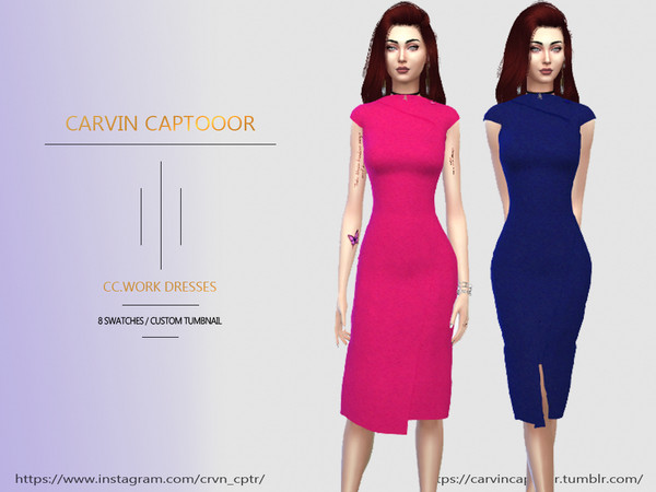 Sims 4 Formal work Dress by carvin captoor at TSR