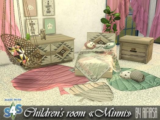Sims 4 Minni kids room at Aifirsa