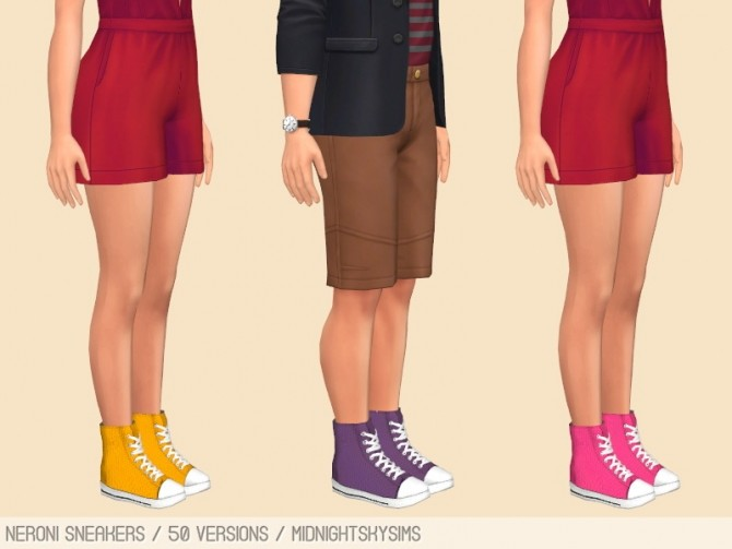 Sims 4 Neroni sneakers recolors at Midnightskysims