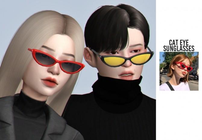 Cat eye sunglasses at Casteru image 1644 670x466 Sims 4 Updates