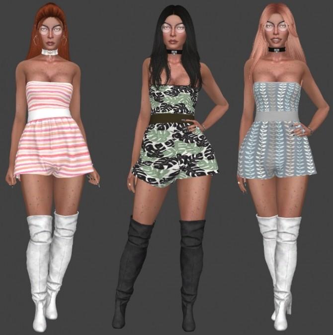 Sims 4 Lumysims Myka Romper Recolors at Annett's Sims 4 Welt