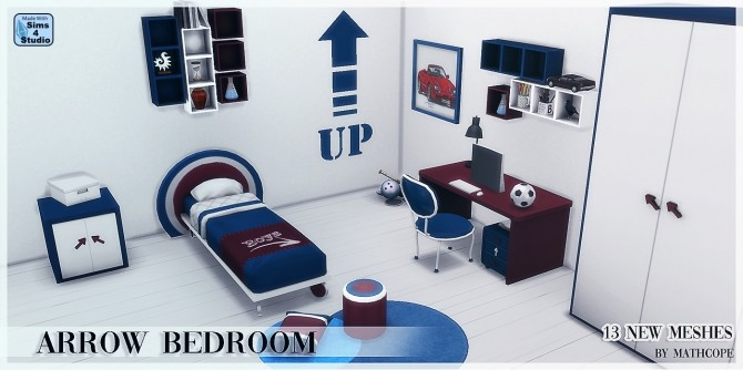 Arrow bedroom by Mathcope at Sims 4 Studio image 1678 670x334 Sims 4 Updates