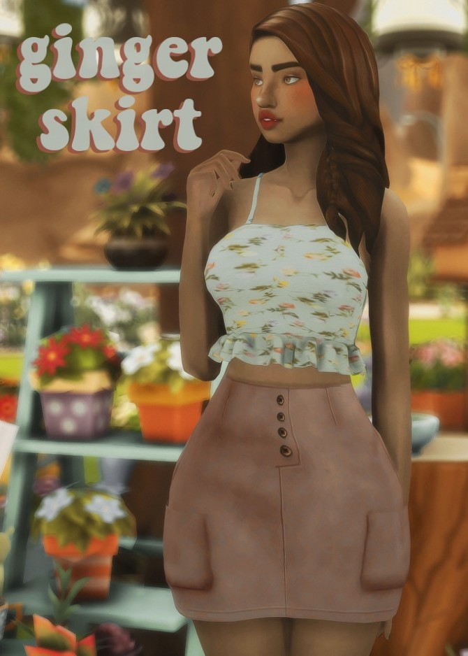 Sims 4 Ridgeport's ginger skirt recolours at cowplant pizza