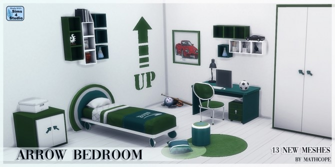 Arrow bedroom by Mathcope at Sims 4 Studio image 1688 670x334 Sims 4 Updates