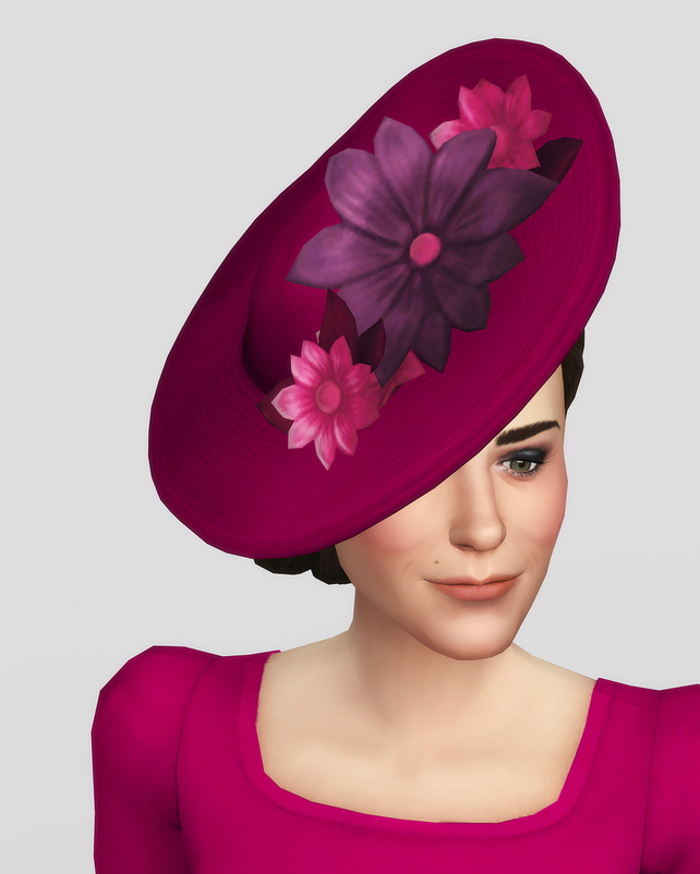 Duchess of hat 18 colors at Rusty Nail image 1691 Sims 4 Updates