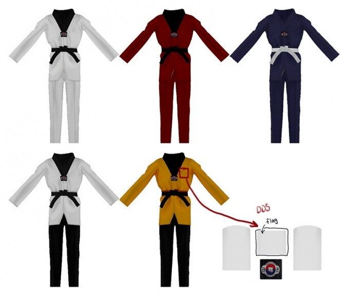 Sims 4 Taekwondo uniform at SHENDORI SIMS
