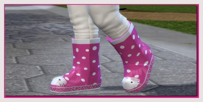 Sims 4 Rain Outfit for little Toddler Girls at Sims4 Boutique