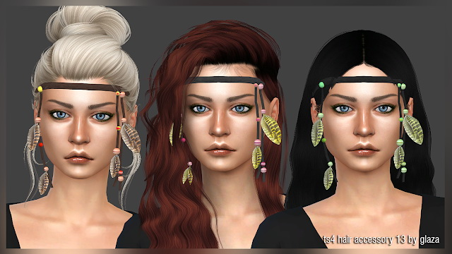 Hair accessory 13 at All by Glaza image 1771 Sims 4 Updates