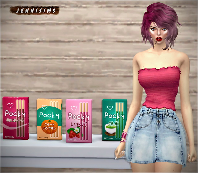 Sims 4 Decorative Pocky at Jenni Sims