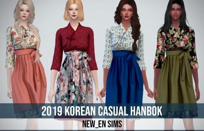 2019 Korean Casual Hanbok At Newen 187 Sims 4 Updates