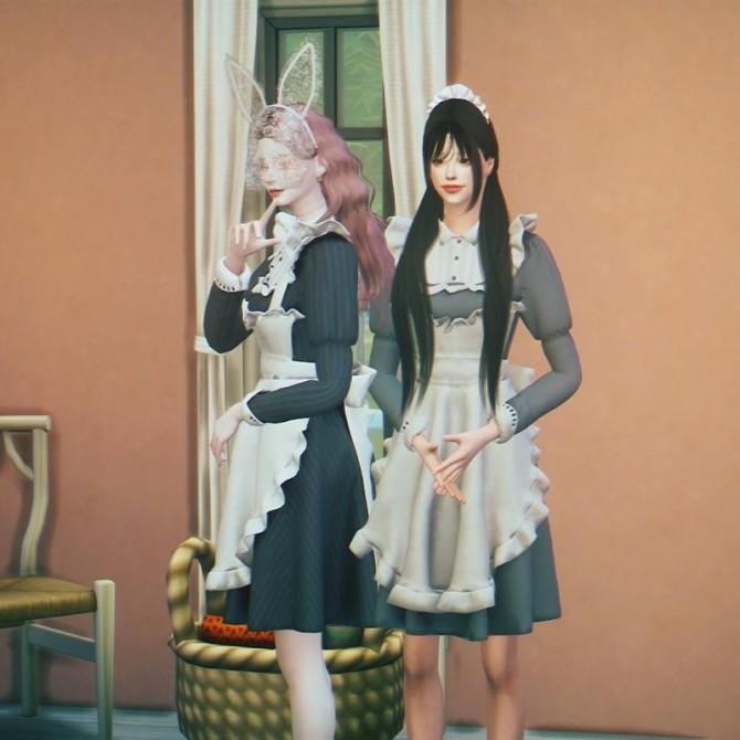Sims 4 Maid Costume at SHENDORI SIMS