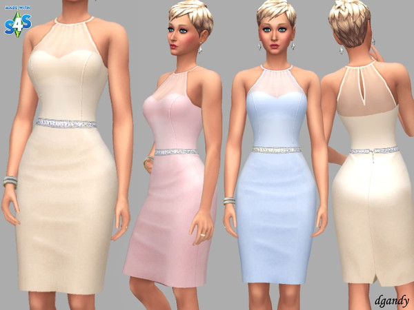 Sims 4 Dress D201901 4 by dgandy at TSR