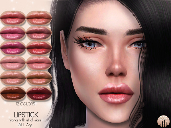 Lipstick BM08 by busra tr at TSR image 1916 Sims 4 Updates