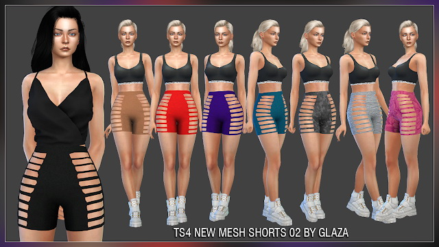 Shorts 02 (P) at All by Glaza image 1992 Sims 4 Updates
