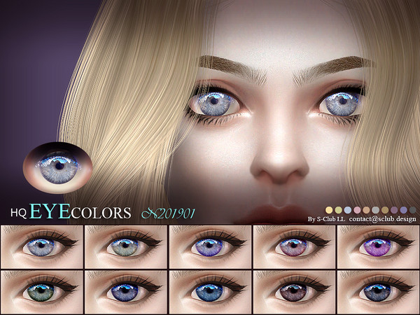 Sims 4 Eyecolors 201901 by S Club LL at TSR