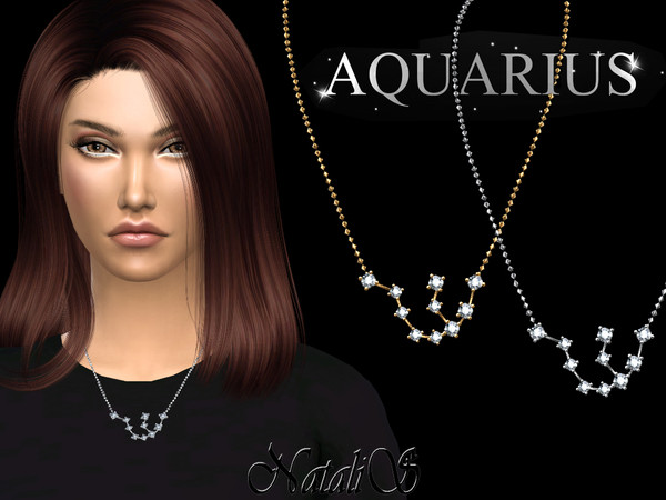 Aquarius zodiac necklace by NataliS at TSR image 2013 Sims 4 Updates