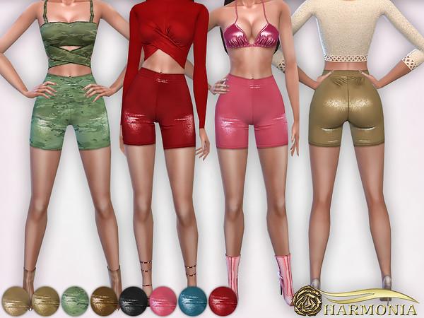Sims 4 Shining Cycling Shorts by Harmonia at TSR