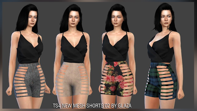 Shorts 02 (P) at All by Glaza image 2018 Sims 4 Updates