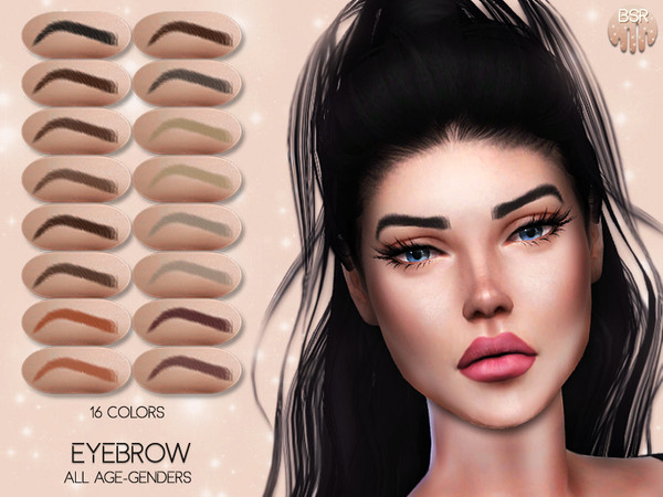 Realistic Eyebrow BW02 by busra tr at TSR image 2024 Sims 4 Updates