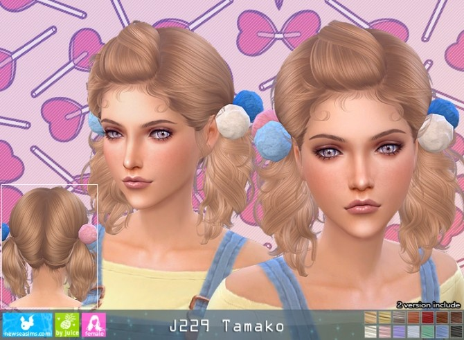 J229 Tamako hair (P) at Newsea Sims 4 image 2032 670x491 Sims 4 Updates